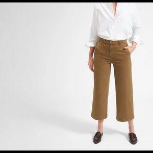 Everlane Wide Leg Crop Pant - Ochre